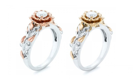 Rose Style Rings with Crystals from Swarovski®