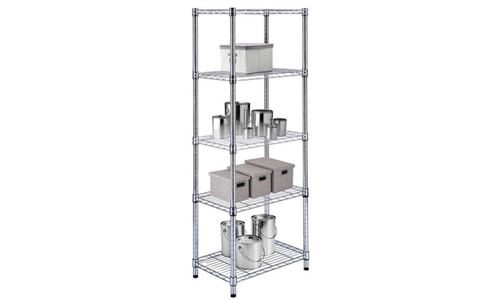 Up To 57% Off on Chrome Steel-Wire Shelving Units | Groupon Goods