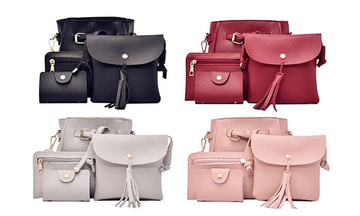 9b0e722dd8c Four-Piece Women s Bag Set   Groupon Goods
