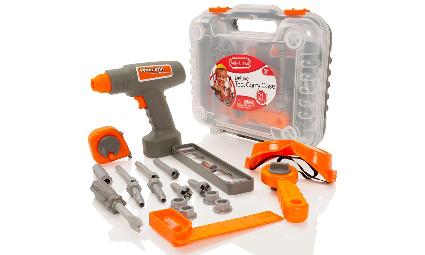 Milly & Ted 21-Piece Electronic Drill Tool Set