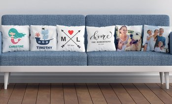 Personalised Canvas Cushion Cover