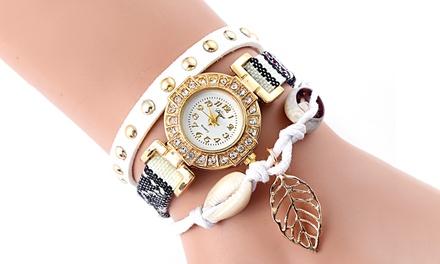 Myla Wickel-Uhr in der Farbe nach Wahl mit Kristallen von Swarovski® inkl. Versand (55% sparen*)