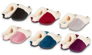 326541c692426d Floopi Women s Indoor Outdoor Soft Velvet Clog Slippers w  Memory Foam