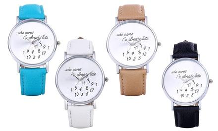 """""""Already Late"""" Women's Watch"""