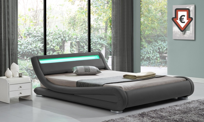 lit design led avec sans matelas groupon. Black Bedroom Furniture Sets. Home Design Ideas