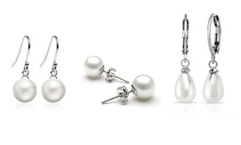3 Freshwater Pearl Earrings