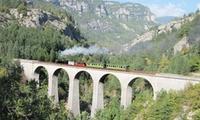Un tour en authentique train à vapeur pour 2, 3 ou 4 personnes dès 22,90 € à bord du Train des Pignes à vapeur