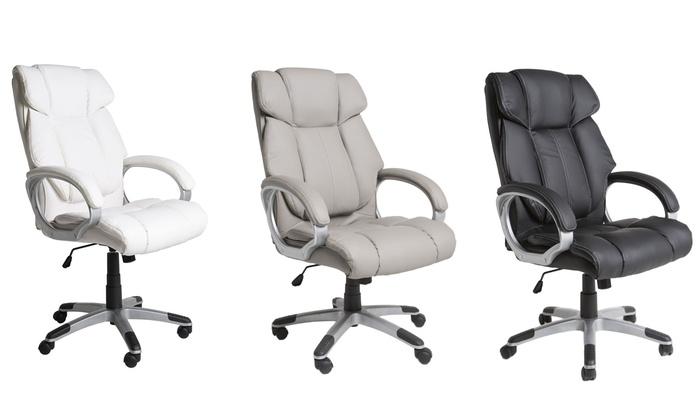 Luxe bureaustoel in drie kleuren groupon goods