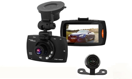 Apachie G30 Full HD Dual Front and Rear Dash Cam with Collision GSensor