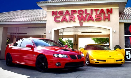 Three or Five Exterior, Triple Shine, or Supreme Shine Car Washes at Neapolitan Car Wash (Up to 35% Off).