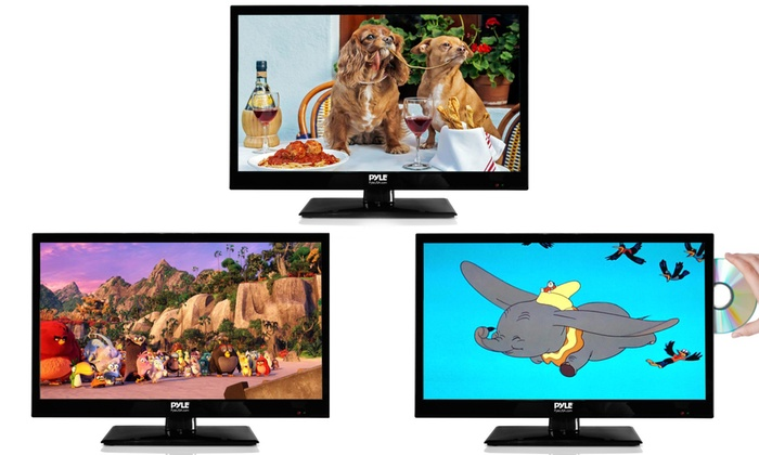 """Pyle 18.5"""", 21.5"""", or 23.6"""" HDTV with Optional Built-In CD/DVD Player"""