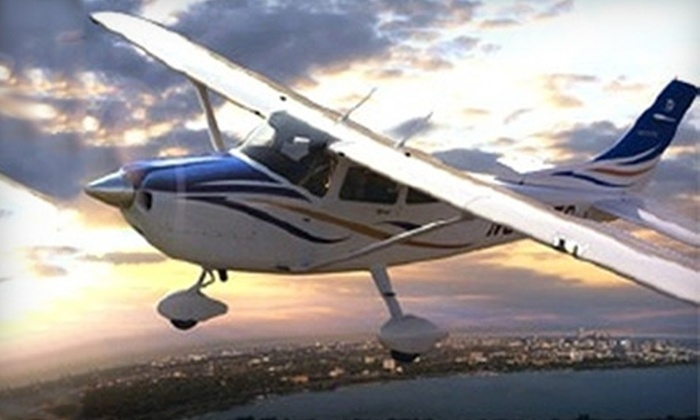 Skytrekker Aviation - Palo Alto: $170 for Two-Hour Introductory Flight Lesson for Two ($350 Value) at Skytrekker Aviation in Palo Alto