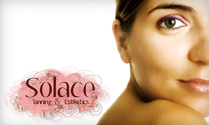 Solace Tanning & Esthetics - Bayridge West: $24 for a Full Brazilian Bikini Sugaring ($48 Value) or $42 for a 75-Minute Facial and Eyebrow Shaping ($85 Value) at Solace Tanning & Esthetics