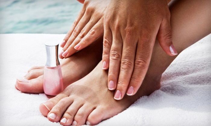 Escape Salon and Spa - Glen Ellyn: Mani-Pedi or Mani-Pedi and Custom Facial at Escape Salon and Spa in Glen Ellyn