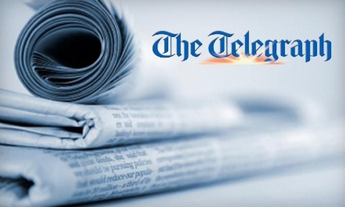 """""""The Telegraph"""" - Macon: $19 for a 26-Week Friday–Sunday Subscription to """"The Telegraph"""" ($78 Value)"""