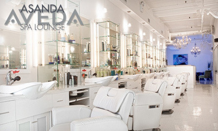 Asanda Aveda Spa Lounge - Asanda Spa Lounge: One, Two, or Three Packages with Blowout, Hair Treatment & Facial at Asanda Aveda Spa Lounge (Up to 69% Off)