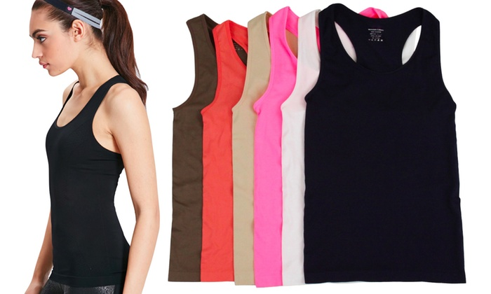 Women's Seamless Athletic Racerback Tank Top