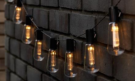 1 o 2 stringhe da 10 lampadine solari bianco caldo o multicolore