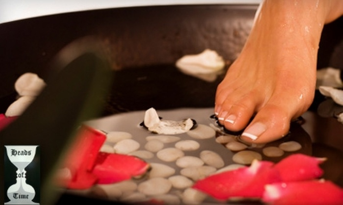 Heads of Time Salon - Appleton: $30 for a Mani-Pedi ($65 Value)