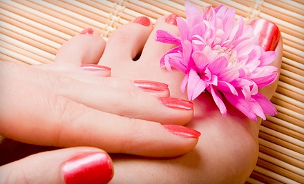 Very Cherry Manicure and Pedicure (a $55 value) - Nails 2 GoGo in Tucson