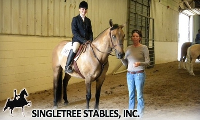 Singletree Stables - Wichita: $12 for One-Hour Group Horsemanship Lesson and Ride at Singletree Stables ($25 Value)
