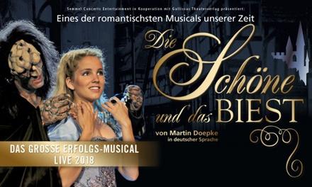 """Ticket für das Musical """"Die Schöne und das Biest"""" am 25. April im Colosseum Theater in Essen (bis zu 33% sparen)"""