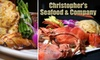 Christopher Seafood - Atlantic Boulevard Estates: $20 for $40 Worth of Seafood and Drinks at Christopher Seafood