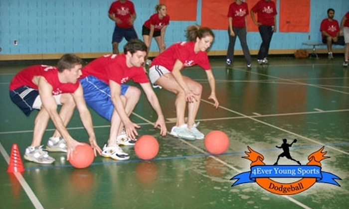 4Ever Young Sports - Multiple Locations: $24 Entry Into Eight-Week Dodgeball League from 4Ever Young Sports ($55 Value)