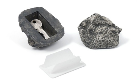 1x oder 2x kreatives Schlüssel-Geheimversteck in Stein-Optik Haus