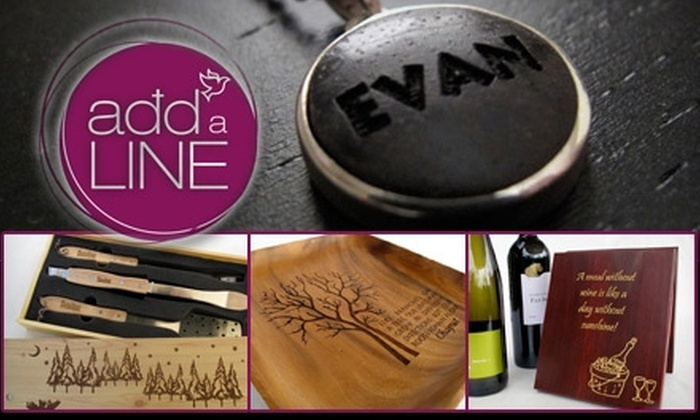 AddaLine - Sioux Falls: $15 for $30 Worth of Customized Laser-Engraved Keepsakes at AddaLine