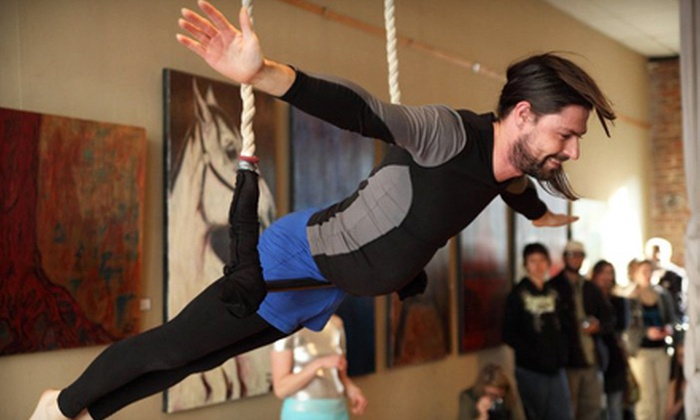 Dragonfly Aerial Arts Studio - Knoxville: One-Hour Introductory Aerial Silks or Dance Trapeze Class for One, Two, or Four at Dragonfly Aerial Arts Studio (Up to 55% Off)
