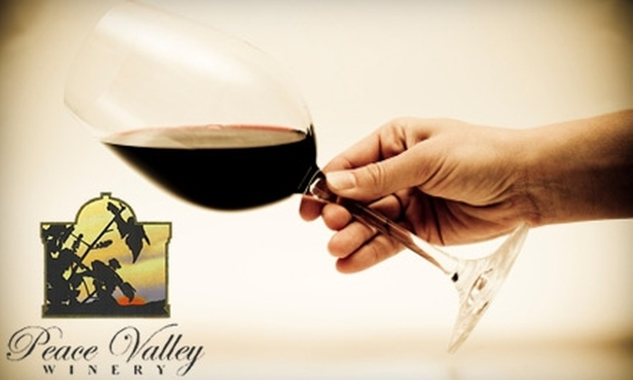 Peace Valley Winery - New Britain: $12 for $25 Worth of Wine, Tastings, Gifts, and Accessories at Peace Valley Winery in Chalfont