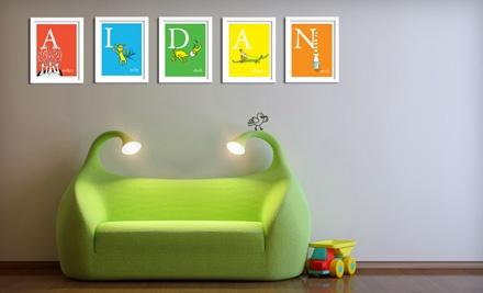 Unframed Dr. Seuss Alphabet Art (an $89 value) - Seuss Prints in