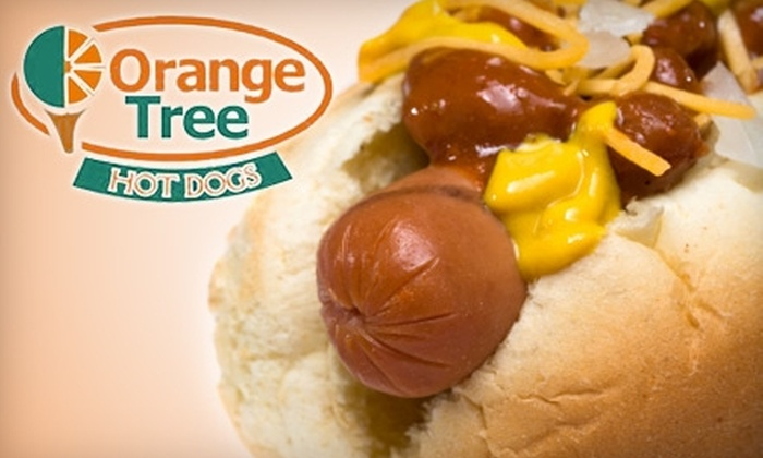 Orange Tree Hot Dogs - Multiple Locations: $5 for $10 Worth of Hot Dogs, Pizza, and More at Orange Tree Hot Dogs
