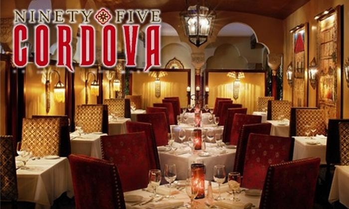 95 Cordova - Old City: $25 for $50 worth of Upscale Seasonal Cuisine at 95 Cordova