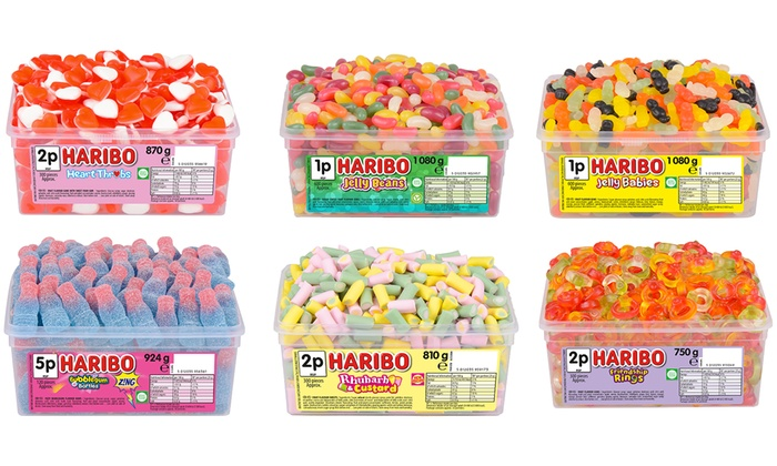Up to Six Tubs of Haribo Sweets in a Variety of Flavours (£6)
