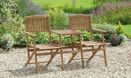 2 seater hardwood garden bench