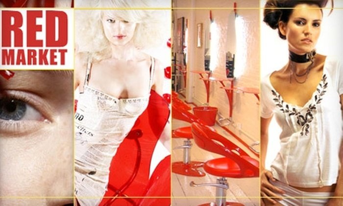 Red Market Salon - West Village: $180 for Highlights, Haircut and Blowout at Red Market Salon (up to $380 Value)