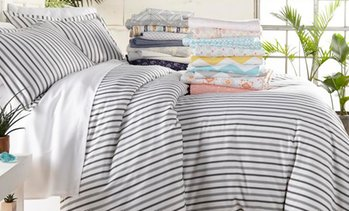 Merit Linens Printed Microfiber Duvet Cover Set (3-Piece)