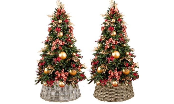 Wicker christmas tree stand groupon