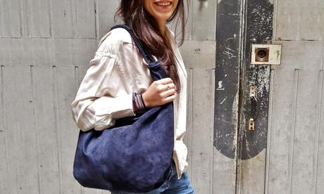Bolso de ante de la marca Ju&Zo modelo Jane Oferta en Groupon
