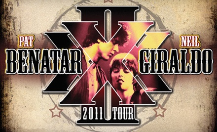 Pat Benatar and Neil Giraldo at the Grand Sierra Resort and Casino on Tue., Aug. 9 at 8PM: Select-Level Seating - Pat Benatar and Neil Giraldo in Reno