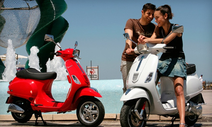 Grow Verde - Media and Entertainment District: $99 for a One-Day Vespa Scooter Rental from Grow Verde