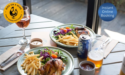 Free-Range Chicken with Chips and Salad for 1 ($12.50), 2 ($24) or 8 People ($89) at Bird on a Wire (Up to $156 Value)