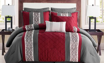 Farion Elegant Pleated Comforter Sets (8-Piece)