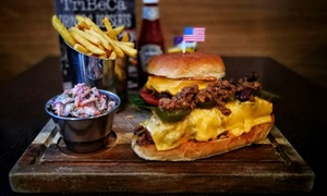 Tribeca City Centre: Choice of Specialty Burgers or Hot Dogs with Fries for Two at TriBeCa City Centre (Up to 42% Off)