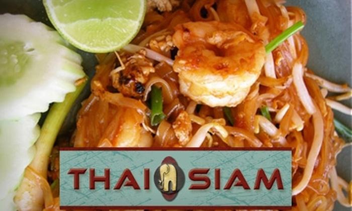 Thai Siam Restaurant - Salt Lake City: $10 for $20 Worth of Authentic Thai Cuisine and Drinks at Thai Siam Restaurant