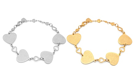 Our Father or Padre Nuestro Heart Prayer Stainless Steel Bracelet