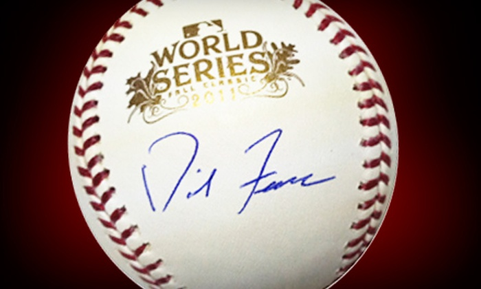 Powers Collectibles: $149 for a 2011 World Series Baseball Autographed by David Freese with Shipping from Powers Collectibles ($308.95 Value)