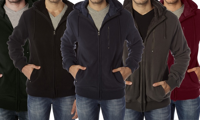 Vertical Sport Men's Sherpa-Lined Fleece Hoodie